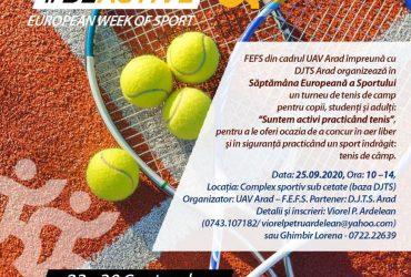 Turneu de tenis de câmp şi antrenament autoapărare