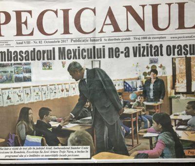 Vizita la Universitatea Aurel Vlaicu din Arad a ambasadorului Mexicului in România 7
