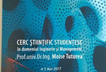 Concursul științific național studențesc în domeniul Inginerie și management organizat de UAV