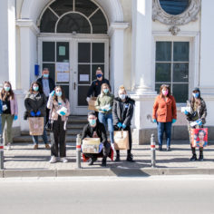 AVU students gave away free face masks in ARAD`s market places