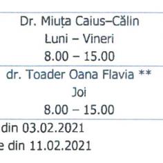 Progam cabinete medicale din cadrul UAV Arad.