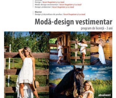 Admitere Specializarea Modă Design vestimentar