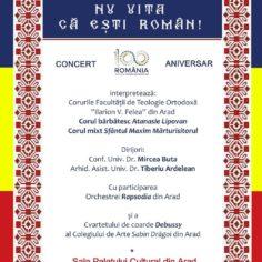 """Concert aniversar - """"NU UITA CĂ EŞTI ROMÂN!"""""""