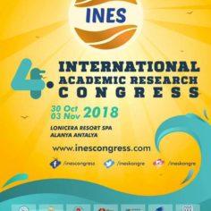 UAV parteneră la IV. International Academic Research Congress (INES - 2018) din Alanya, Turcia