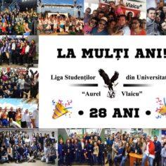 """Liga Studenților din Universitatea """"Aurel Vlaicu"""" din Arad aniversează 28 de ani"""